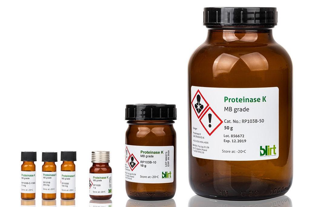 Proteinase K, Molekularbiologiequalität bei LabConsulting in Wien